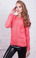 Женский свитер кораллового цвета