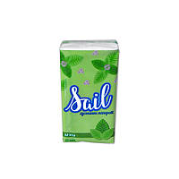 Салфетки бумажные SAIL (носовые платки) мятные 1шт.