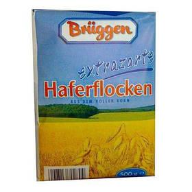 Цельные овсянные хлопья Bruggen extrazarte Haferflocken 500g