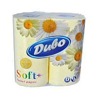 Туалетная бумага Диво Soft+ 4 рулона желтая