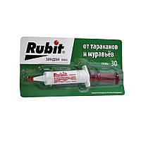 Средство от тараканов и насекомых Rubit 30г (гель-шприц)