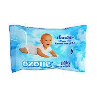 Салфетки влажные Ozone baby aroma free  20шт.