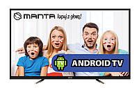 Телевизор MANTALED94801S(50 Гц,Ultra HD 4k, Smart TV,Android 5.0,DVB-C/T,2 x 8 Вт)