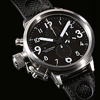 Часы U-Boat Flightdeck black хронограф мужские