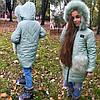 Шикарное зимнее пальто на флисе, с мехом на карманах., фото 4