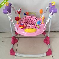 Детские прыгунки музыкальные BC01-8 розовые