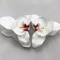 Заколка краб пластик орхидея