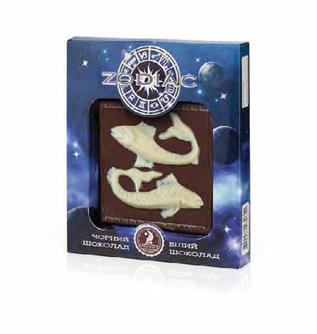 """Шоколадная плитка """"Zodiac"""" (рыбы), фото 2"""