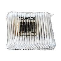 Ватные (ушные) палочки деревянные 100шт.