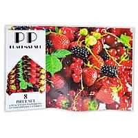 Набор на стол из 8 предметов (4 костера + 4 сэта) лесные ягоды