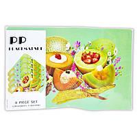 Набор на стол из 8 предметов (4 костера + 4 сэта) дыни-ананасы