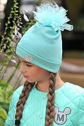 Детская шапка с бумбоном из фатина