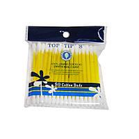 Ватные (ушные) палочки пластиковые Top-Tip's 50шт.
