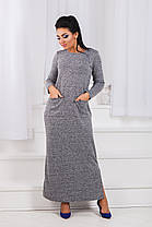 ДР1546 Платье теплое длинное размеры 42-56 , фото 3