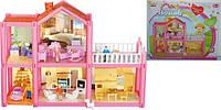 Домик для кукол, 2-этажа, 113 деталей, фигурки, мебель, OS954