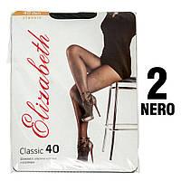 Колготы Elizabeth 40 den classic Nero (черные) 2