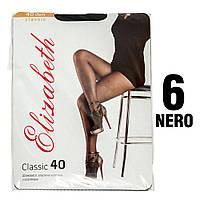 Колготы Elizabeth 40 den classic Nero (черные) 6