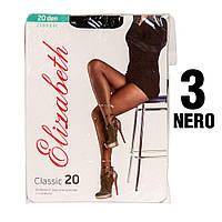 Колготы Elizabeth 20 den classic Nero (черные) 3