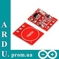 Сенсорная емкостная кнопка TTP223B Arduino (датчик касания) [#6-5], фото 1