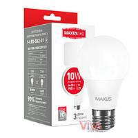 LED лампа MAXUS A60 10W E27 4100K белый свет 220V (1-LED-562-01), фото 1