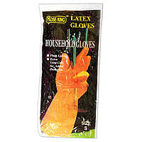 Перчатки для уборки в доме латексные Rose king (размер S)