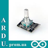 Энкодер датчик угла поворота Arduino KY-040 [#3-3]
