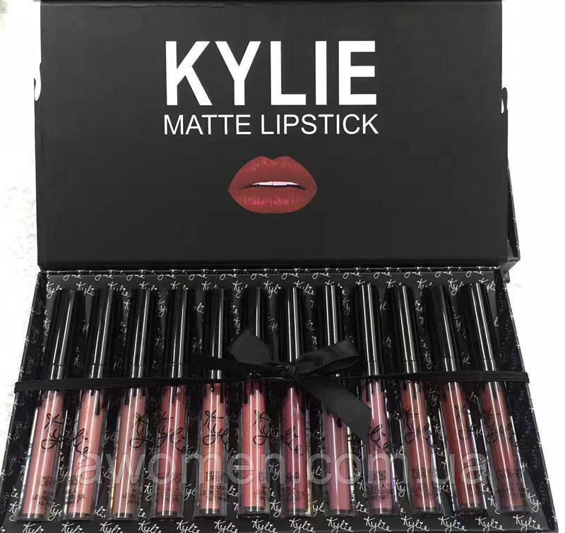 Набор матовых помад Kylie Limited Edition MATTE 12 цветов