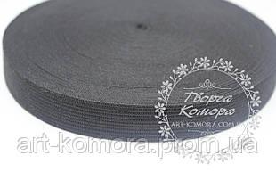 Резинка для юбочек черная, 2 см