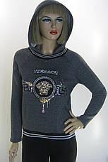 жіночий  світшот на флісі з капюшоном Versace, фото 2