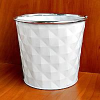 Ведерко-кашпо металлическое без ручки 11 х 12,5 см