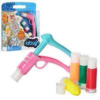 Набор для творчества пластилин-застывающий, 5 цветов, 3Dручка-пистолет, на листе