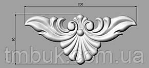 Горизонтальный декор 13 накладка резная - 200х90 мм, фото 2