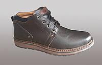 Кожаные мужские зимние ботинки