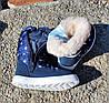 Детские зимние дутики синие с полосками 5, фото 2