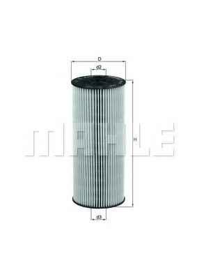 OX137DEco   Фільтр масляний (змінний елем.) MB (TRUCK) (в-во Knecht-Mahle)