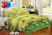 Семейное постельное белье полиСАТИН 3D (поликоттон) 2142
