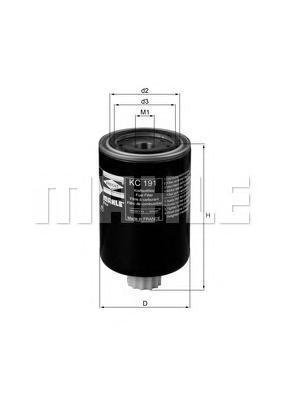 KC191   Фільтр палива (в-во Knecht-mahle)
