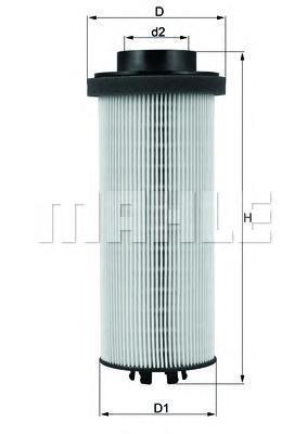 KX262D | Фільтр паливний (змінний елем.) DAF (TRUCK) (в-во Knecht-Mahle)