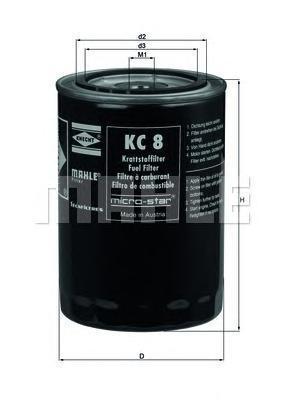 KC8 | Фільтр паливний IVECO (в-во Knecht-Mahle)