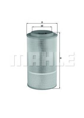 LX1024   Фільтр повітряний MAN TRUCK) (в-во Knecht-Mahle)