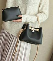 Женская сумка мини через плечо комплект 2 в 1