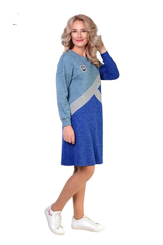 Женское ангоровое платье свободное