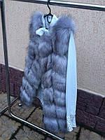 Женская меховая жилетка безрукавка