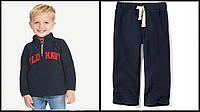 Детский синий спортивный костюм из флиса Олд Неви для мальчика