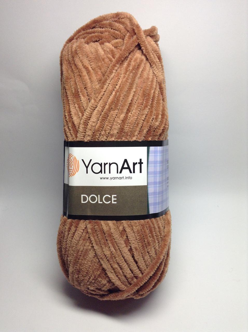 Пряжа dolce - цвет коричневый