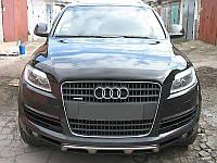 Мухобойка, дефлектор капота Audi Q7 2006-2014 (Sim)