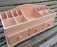 Органайзер для хранения косметики 3 ящика
