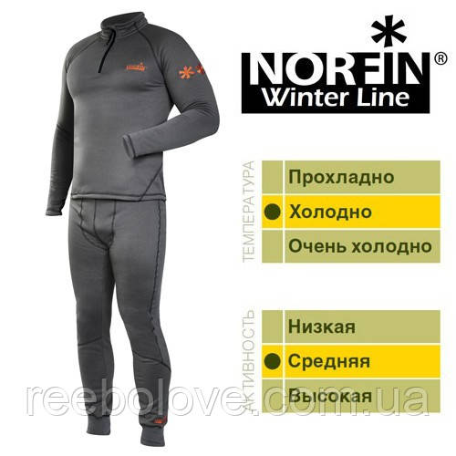 Термобелье Norfin Winter  Line Gray S