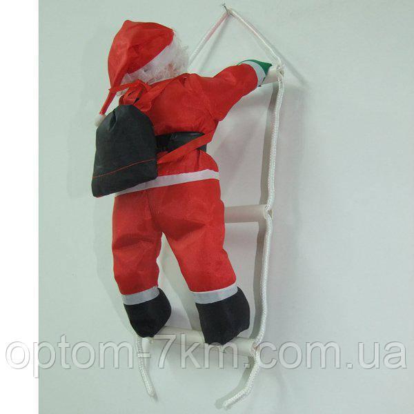 Дед  Мороз Санта Клаус на Лестнице 1шт. 35 см.