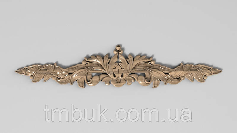 Горизонтальный декор 18 деревянная накладка - 300х63 мм